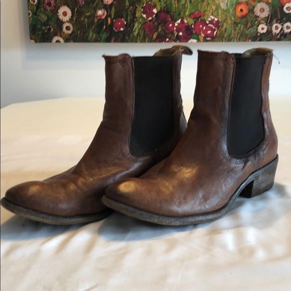 Used pair of Frye Carson booties.